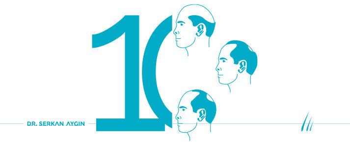 Saç Dökülmesi Tipleri | 10 Saç Dökülme Tipi